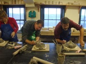 Sculpting at Stoke